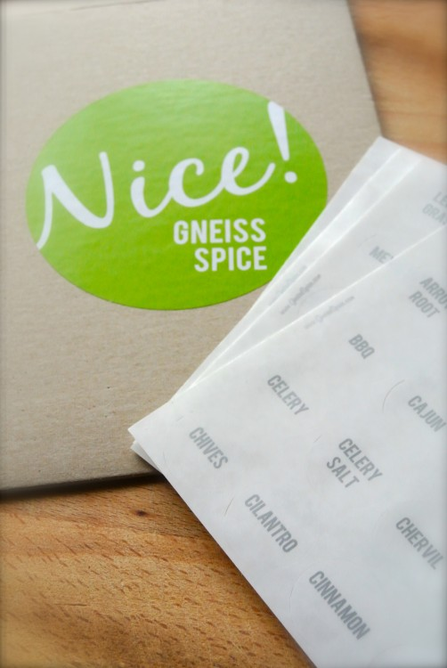 Gneiss Spice Labels