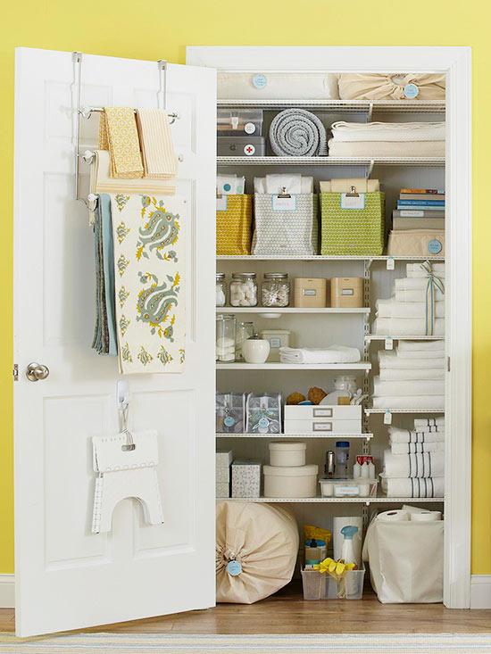 Option 1 Organize Your Linen Closet
