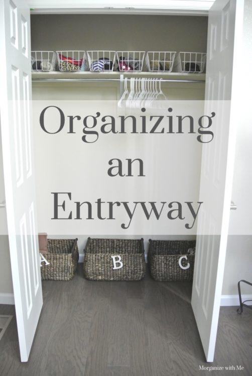 Entryway Organizing
