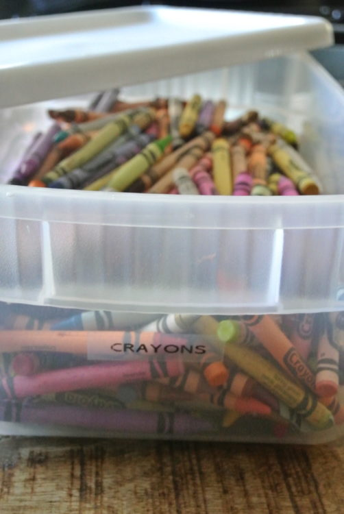 Organizing Kids' Arts and Crafts at I'm an Organizing Junkie blog