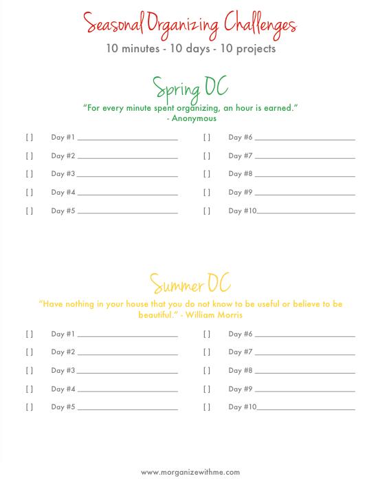 Seasonal Organizing Challenges
